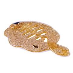 Banana Star Fish Pequena Glitter Dourado
