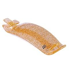 Fivela com Palito Paola Média Glitter Dourado