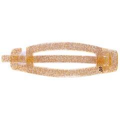 Fivela com Palito Sarah Grande Glitter Dourado