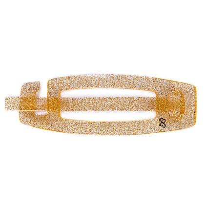 Fivela com Palito Sarah Média Glitter Dourado