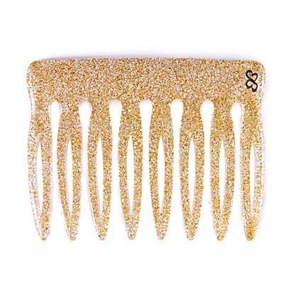 Pente Vênus Médio Glitter Dourado