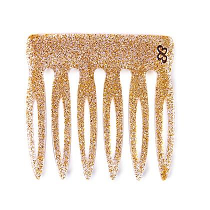 Pente Vênus Pequeno Glitter Dourado
