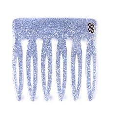Pente Vênus Pequeno Glitter Prateado
