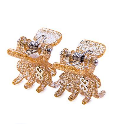 Prendedor Florence Extra Small Glitter Dourado