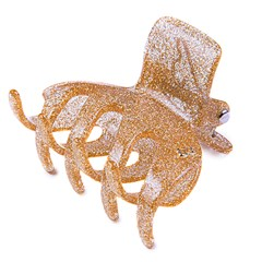 Prendedor London Extra Large Glitter Dourado