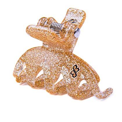 Prendedor Los Angeles Small Glitter Dourado