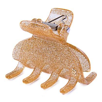 Prendedor Madrid Large Glitter Dourado