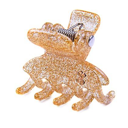 Prendedor Madrid Small Glitter Dourado