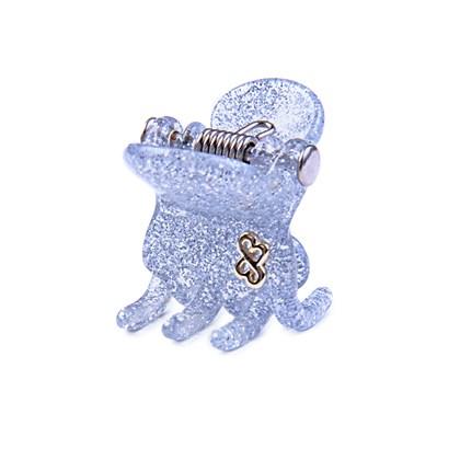 Prendedor Milano Small Glitter Prateado