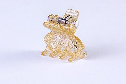 Prendedor New York Extra Small Glitter Dourado
