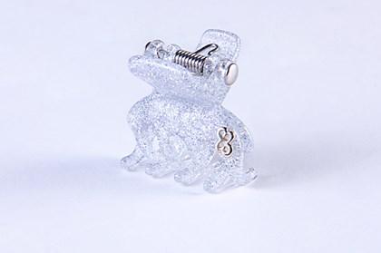 Prendedor New York Extra Small Glitter Prateado