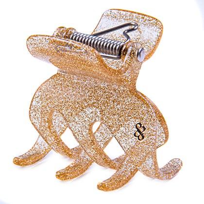 Prendedor Paris Extra Large Glitter Dourado