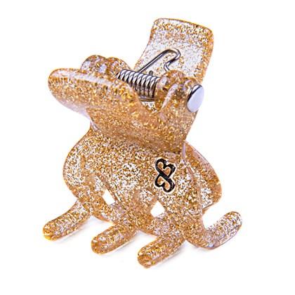 Prendedor Paris Extra Small Glitter Dourado