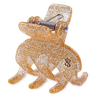 Prendedor Paris Medium Glitter Dourado