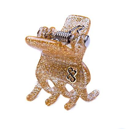 Prendedor Paris Small Glitter Dourado