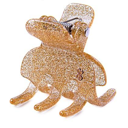 Prendedor Rome Large Glitter Dourado
