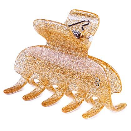 Prendedor São Paulo Large Glitter Dourado