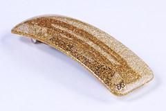 Presilha Diana Média Glitter Dourado