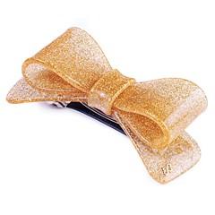 Presilha Laço Aurora Média Glitter Dourado