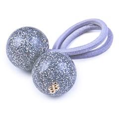 Rabicó Duo Ball Pequeno Glitter Prateado