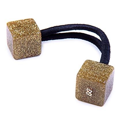 Rabicó Duo Cube Médio Glitter Dourado