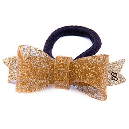 Rabicó Laço Bela Glitter Dourado
